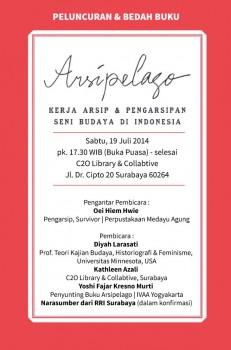 Peluncuran & bedah buku Arsipelago Surabaya